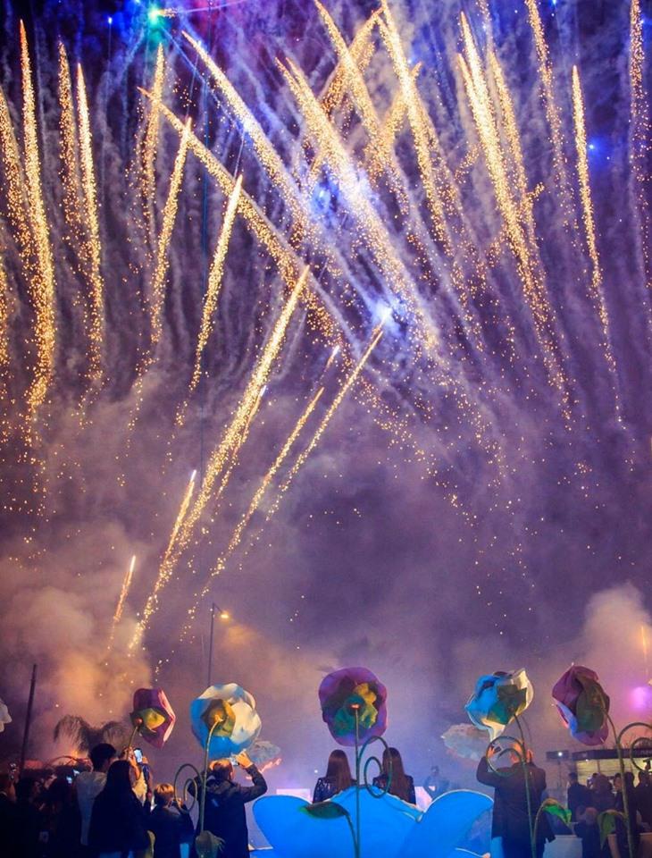 Fuochi artificio per feste